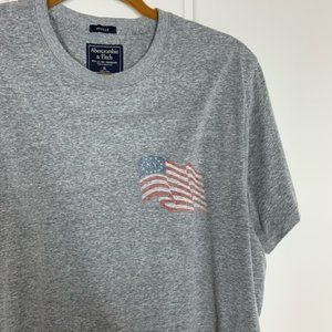 Abercrombie & Fitch Flag Graphic Short Sleeve Tee